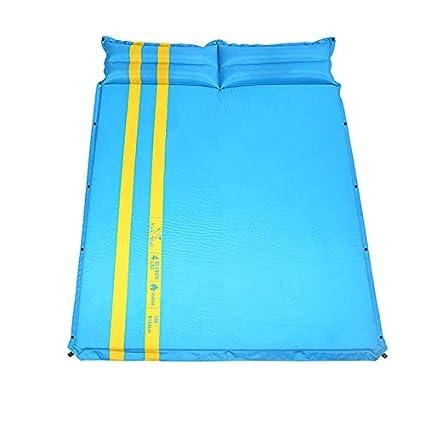 Saco de Dormir - Doble Espesa automática Inflable Mat Tienda a Prueba de Humedad Pad Camping