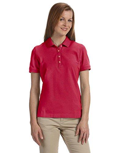 Women's Slim-cut Ashworth Classic Solid Pique Polo, Carmine Red, L