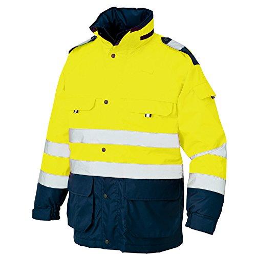 (アイトス) AITOZ 高視認性安全服 防水防寒コート (AZ8960) 【M~5Lサイズ展開】 B01689U1PK 5L|イエローXネイビー イエローXネイビー 5L