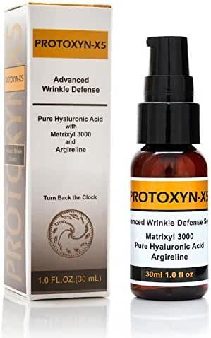Botox Alternative:hyaluronic Acid,15% Matrixyl 3000, 20% Argireline,5 % Vitamin C,repair, Boost Collagen, 1oz Serum by PROTOXYN -X5