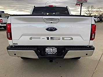 2018 Ford F150 Tailgate Insert Decals Letters Inlay Stickers CHROME MIRROR