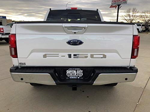 LimitlessParts Tailgate Letters for Ford F-150 2018 2019 Plastic Inserts Chrome ABS Plastic 1.5mm Thick Indentation Inlay ()