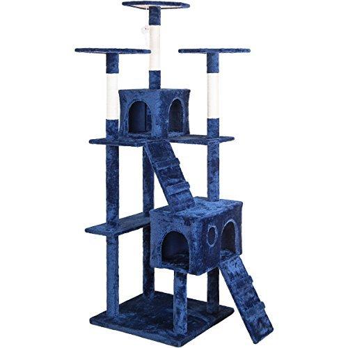 "Merax Cat Tree Tower Condo House Cat Furniture 60"", Beige"