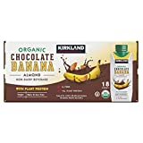 Kirkland Signature Organic Vegan Chocolate Banana Plant Protein Non-Dairy Almond Milk Beverage - 18 Count (8.25 fl oz.)