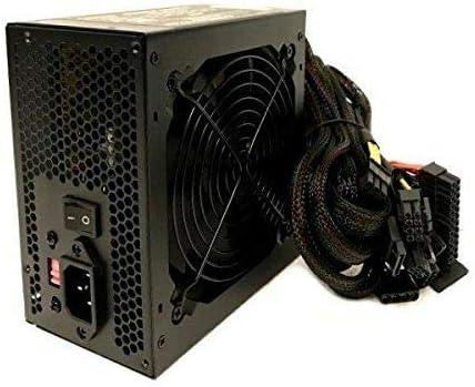 KENTEK 680 Watt 120mm Quiet Fan ATX SATA PCIe Power Supply 600W 650W Upgrade