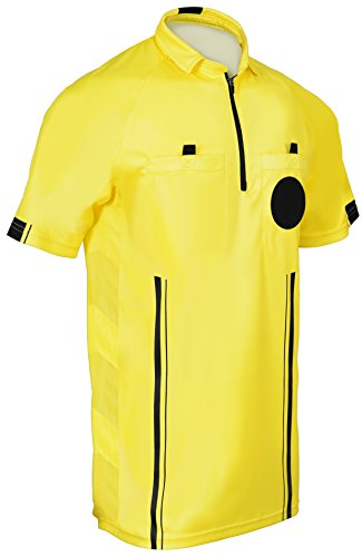 New! 2018 Soccer Referee Jersey (2018 Yellow, Adult ()