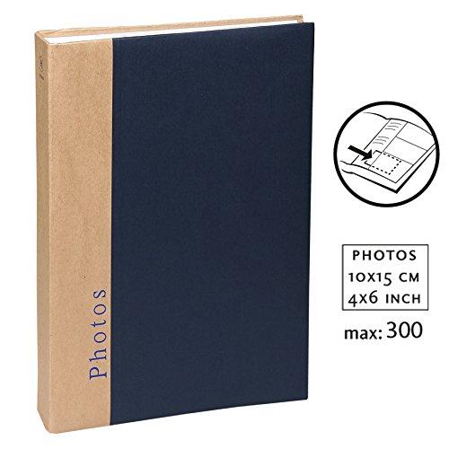 Chapter Einsteckalbum für 300 Fotos in 10x15 cm Foto Album mit Farbauswahl: Farbe: Blau