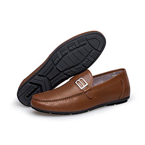 ZRO Men's Summer Casual Buckle Slip-On Hollow Breathable Brown US 8.5 by ZRO (Image #5)