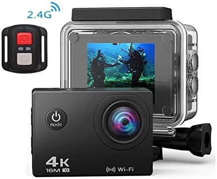 4 kアクションhdミニカメラ、水中防水カメラ、170°広角wifiポータブルスポーツ自転車レコーダービデオワイヤレス,Pink