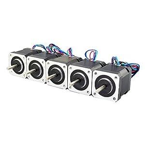 5PCS Nema 17 Stepper Motor Bipolar 2A 84oz.in 48mm 4-lead for 3D Printer/CNC from OSM Technology Co.,Ltd.