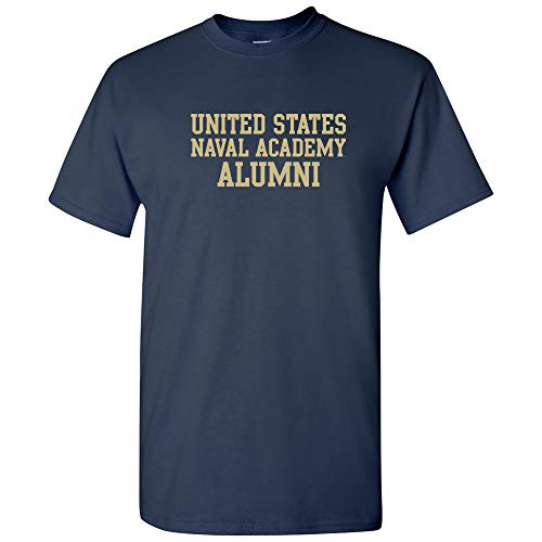AS05 - US Naval Academy Midshipmen Block Alumni T-Shirt - X-Large - Navy