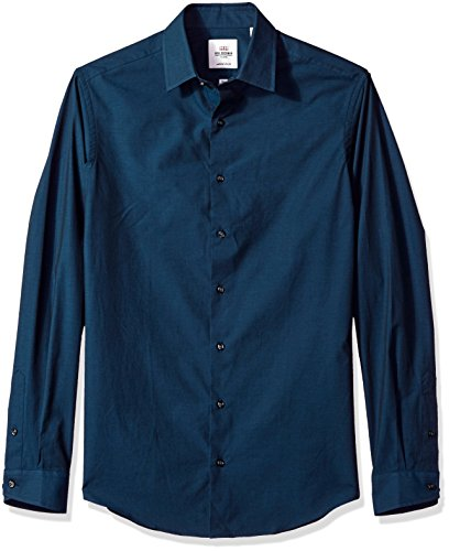 Ben Sherman Men's Tonic Poplin Slim Fit Dress Shirt, Teal, 17.5