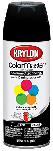 Exterior Krylon Spray Interior Paint (Krylon Interior/Exterior Spray Paint (12 oz.) - Glossy Black/OSHA)