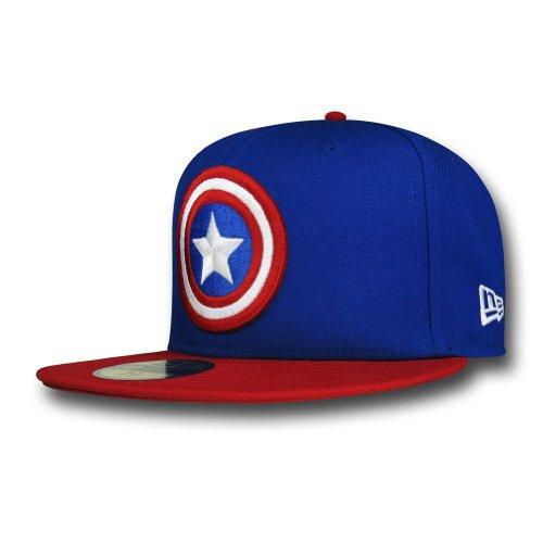 Captain America Shield Blue 59Fifty Cap- 7 1/8