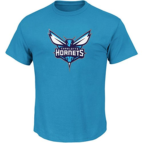 Majestic Men's Big & Tall NBA Team Primary Logo T-Shirt (XLT, Charlotte Hornets)