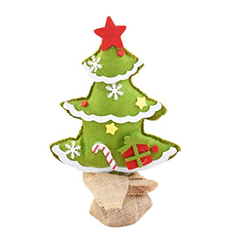 Merry Christmas Desk Decoration, Unpara Fashion Cute Bedroom Gift Office Home Nonwovens Tree, Attractive Design, Reliable, Non-toxic (Green)