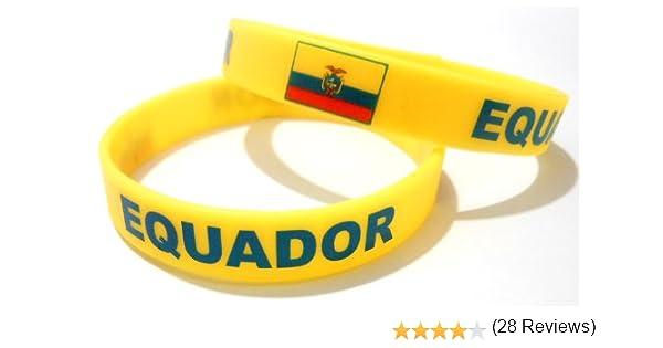 AccessCube Unisex Pulsera de Silicona de Bandera de país de Goma Deporte Moda Pulsera Cuff 8 Pulgadas 20,2 cm ...