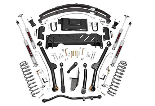 Long Arm Lift Kit - Rough Country - 67222-6.5-inch X-Series Long Arm Suspension Lift System w/Performance N3 Shocks for Jeep: 84-01 Cherokee XJ 4WD