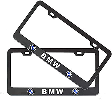 2Pcs Newest Matte Aluminum Alloy Logo License Plate Frame for Jeep Applicable to US Standard car License Frame with Screw Caps Cover Set