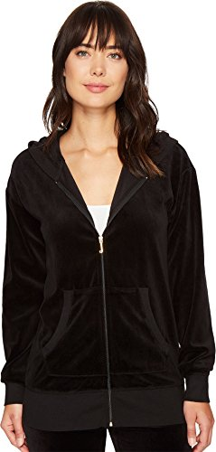 Juicy Couture Black Label Women's Velour Beachwood Jacket, Pitch Black M ()