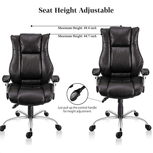 Smugdesk Executive Office Chair Ergonomic Heavy Duty Chair Leather Adjustable Swivel Comfortable Rolling Chair Photo #3
