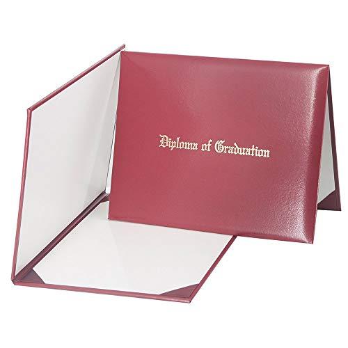 GraduationMall Imprinted Diploma Cover Maroon 8 ()