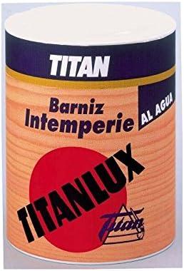 TITAN - Barniz Intemperie Agua Brillo Titan 1 L: Amazon.es ...