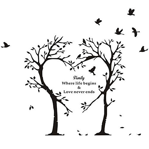 Cheap  Boodecal Nature Series Heart Tree Quote Wall Decal Mural Sticker Decor for..