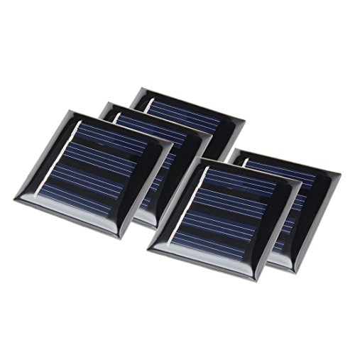 uxcell 5Pcs 2V 40mA Poly Mini Solar Cell Panel Module DIY for Phone Light Toys Charger 40mm x 40mm