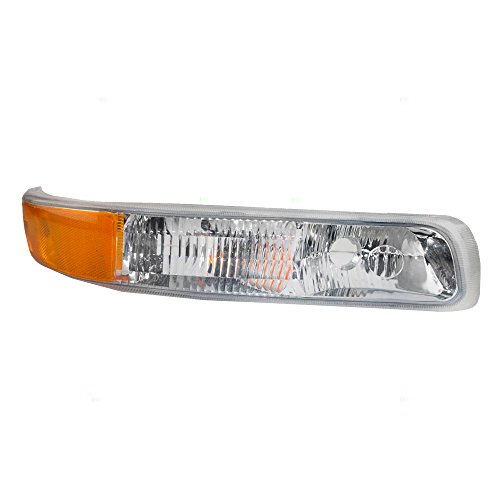 Park Light Assembly Signal (Passengers Park Signal Side Marker Light Lamp Lens Replacement for Chevrolet SUV Pickup Truck 15199559)