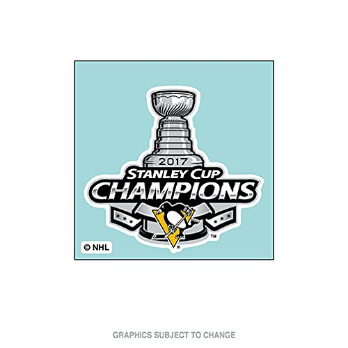 Wincraft Pittsburgh Penguins Decal (Pittsburgh Penguins 2017 Stanley Cup Champions Perfect Cut Decal (4
