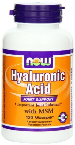 Now Foods Hyaluronic Acid with MSM, 120 Vcaps (Pack of 3) by NOW