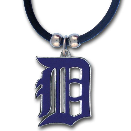 - MLB Detroit Tigers Rubber Cord Necklace