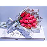 Red-Roses-Bouquet-One-Dozen-Artificial-Scented-Wood-Flowers-With-Refresher-Spray-In-A-Box