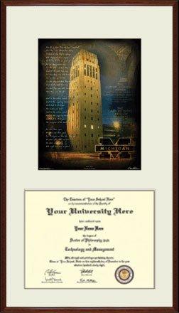 University of Michigan Wolverines Large Format Diploma Frame