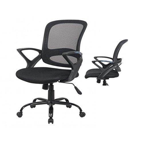 Ergonomic Mid-back Mesh Office Computer Chair Soft Sponge Upholstery 360 Degree Swivel Home Office Gaming Desk Task Executive #1500a (Manchester Swivel Desk Chair)