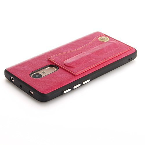 Funda Xiaomi Redmi Note 4X, SsHhUu Retro Piel PU para A prueba de golpes Protección Card Slot Holder Ocultar Metal Kickstand pour Xiaomi Redmi Note 4X (5.5) doro Rose