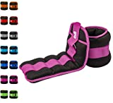 REEHUT Ankle Weight, Durable Wrist Weight 1 Pair Adjustable Strap for Fitness, Exercise, Walking, Jogging, Gymnastics, Aerobics, Gym - Purple