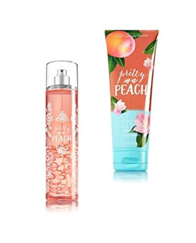 Bath & Body Works ~ Signature Collection ~* Pretty as a Peach *~ Gift Set~ Fine Fragrance Mist & Ultra Shea Body Cream
