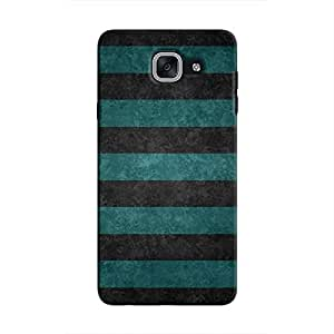 Cover It Up - Teal and Black Stripes Galaxy J7 MaxHard Case