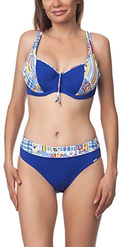 Antie Bikini Conjunto para mujer Tasmania S Azul/Amarillo