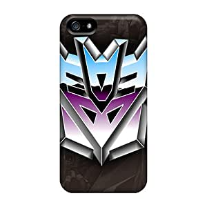 Apple Iphone 5/5s HgA5594HIDA Custom Colorful Decepticons Logo Pattern Shock-Absorbing Hard Cell-phone Case -JohnPrimeauMaurice