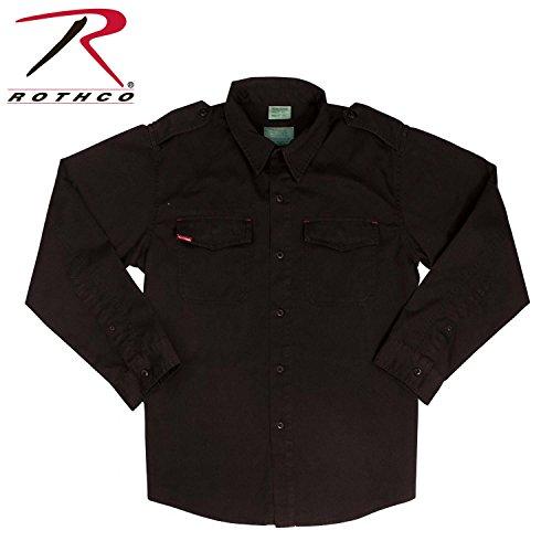 Rothco Vintage BDU Shirt, Black, 2X by Rothco