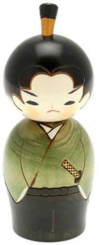 Usaburo Japanese Kokeshi Doll, Hiro the Junior Samurai - Kokeshi Style Doll