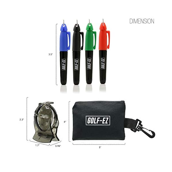 Golf-EZ-Golf-Ball-Line-Drawing-Marking-Alignment-Tool-Kit-with-4pcs-Marker-Set-and-Carry-Case