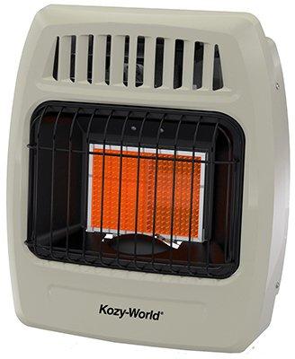 Kozy World Dual Gas Fuel Wall Heater Model KWD215, Vent Free - 12,000 BTU