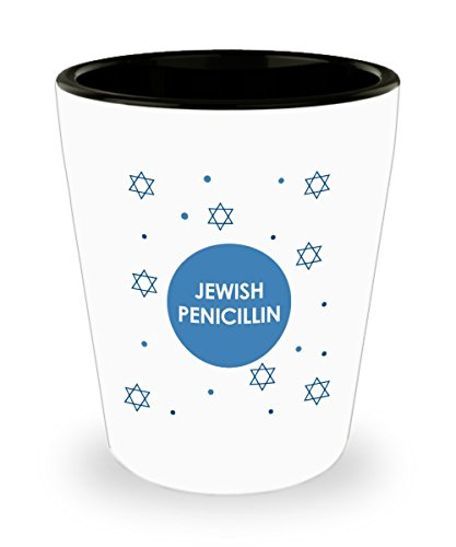 Jewish Penicillin Shot Glasses - Jewish Gift Idea - Jewish Gag Gifts (Penicillin Shot)