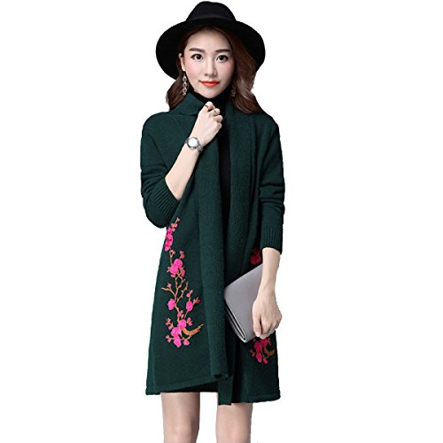 Suéteres De Lana Del Otoño Y Del Invierno De Las Mujeres, Multicolor, De Varios Tamaños Green