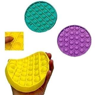 Rpaio Push pop Bubble Squeeze Sensory Toy, Push Pop Pop Bubble Sensory Fidget Toy, Pop It Figit Toy Fidget Toys Autism Special Needs Stress Reliever, Push Bubble Gadgets (Color : 3 Colors)