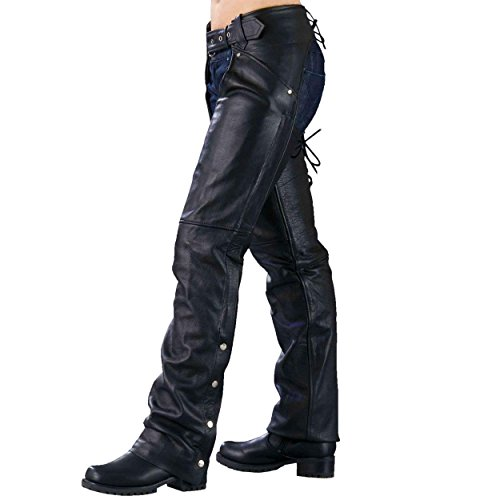 Ladies Biker Chaps with LACES ON THE BACK (X-Large)